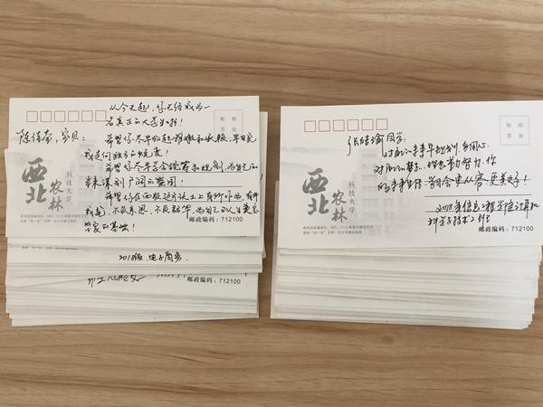 信息学院 家长留寄语 卡片传真情图片